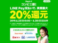 【LINE Pay6月後半のPayトク】 コンビニ祭のキャンペーン内容と注意点!