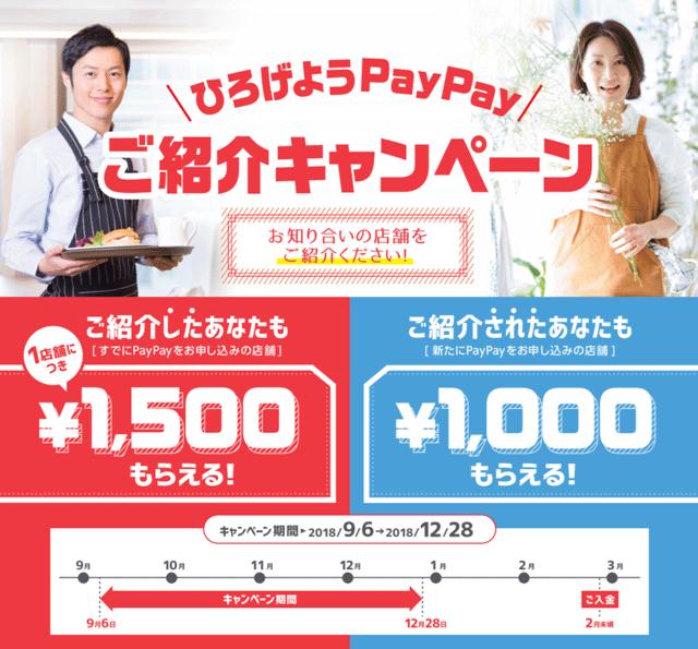 決済アプリPayPayの導入店舗紹介キャンペーン