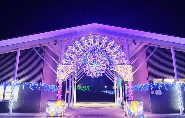 砺波市のイルミネーション「チューリップ公園KIRAKIRAミッション」の入り口