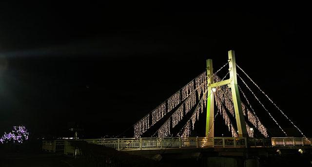 射水市のイルミネーション「ツゥインクルナイトin射水」の花見橋