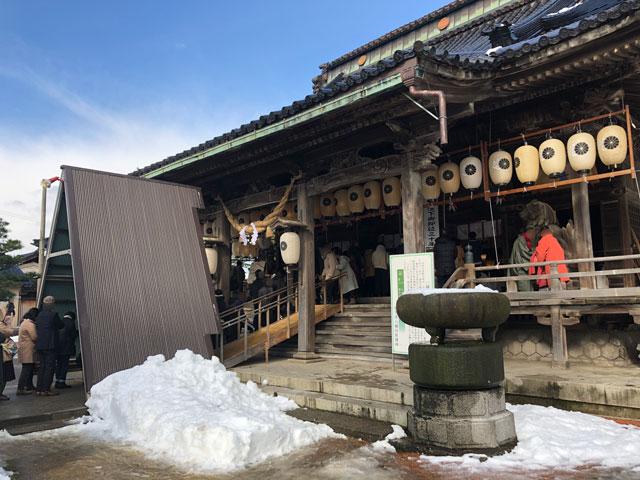 放生津八幡宮(ほうじょうずはちまんぐう)の初詣参拝