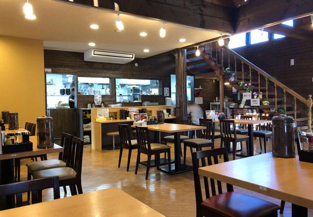 山室の元祖上州もりそばの「景勝軒 富山店」の店内の様子