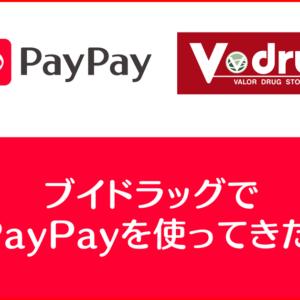 【VドラッグでPayPayが利用可能】ブイドラッグではペイペイの利用が断然お得!