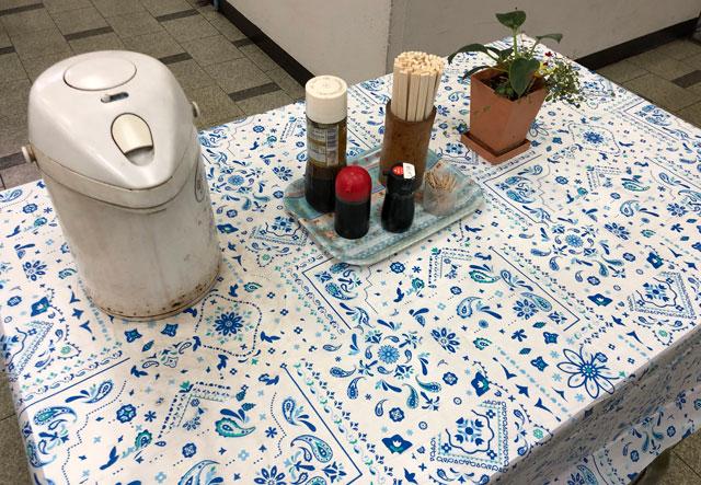 【富山市双代町 富山交通の食堂】のテーブルセット