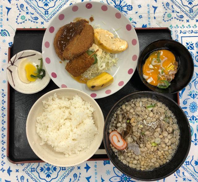富山交通(富タク)の食堂の日替わり定食