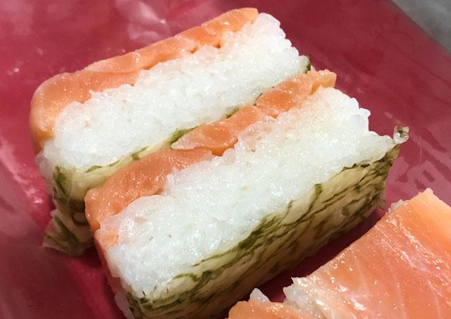 吉田屋鱒寿し本舗の「おぼろ昆布のます寿し」の酢飯