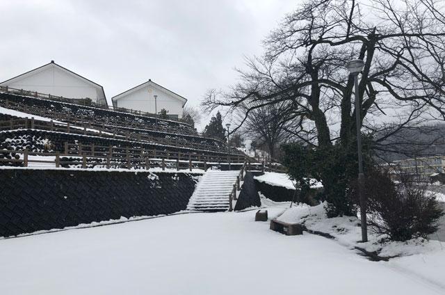 おわら風の盆で有名な越中八尾の冬の景色