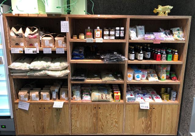 富山市寺島のオシャレスーパー「黒崎屋(KUROSAKIYA)」の米や醤油