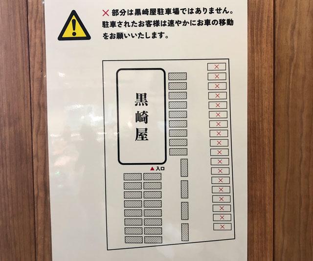 富山市寺島のオシャレスーパー「黒崎屋(KUROSAKIYA)」の駐車場マップ