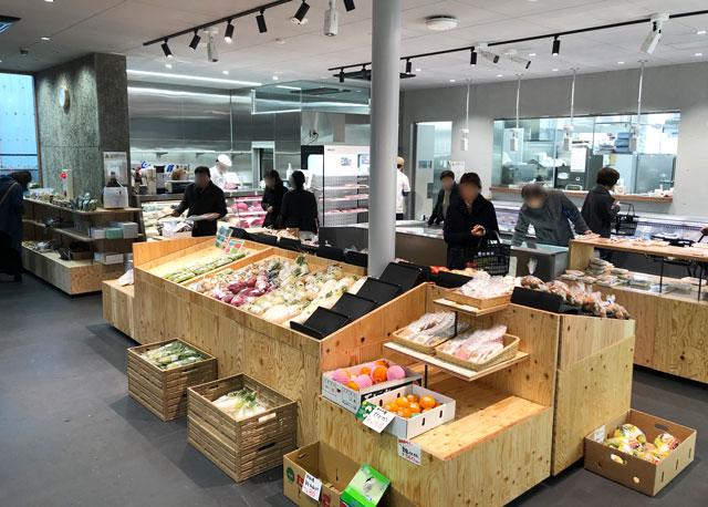 富山市寺島のオシャレスーパー「黒崎屋(KUROSAKIYA)」の店内の様子