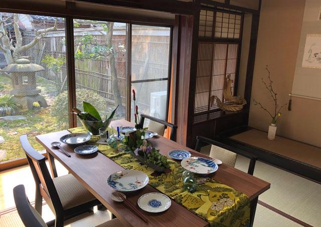新湊内川エリアの民泊ゲストハウス「内川の家 奈呉」の1階のレンタルスペース3