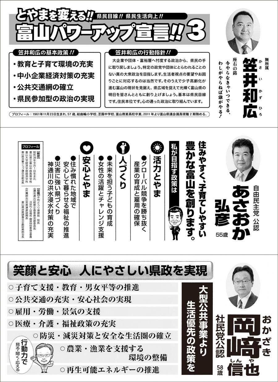 【富山県議会議員選挙2019】富山市第1の選挙広報1