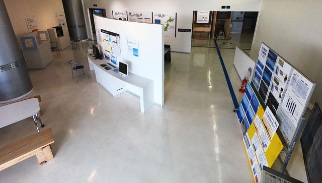 富山県魚津市の埋没林博物館にある蜃気楼コーナー