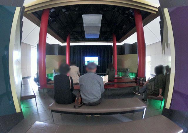 伏木にある高岡市万葉歴史館の上映「越中万葉憧憬」