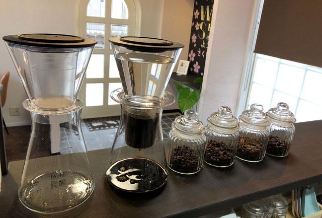 富山市婦中町のカフェ「さくらとねこと」のこだわりのコーヒー
