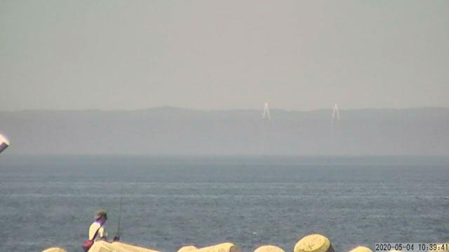 富山県魚津市の蜃気楼のYouTubeライブカメラ