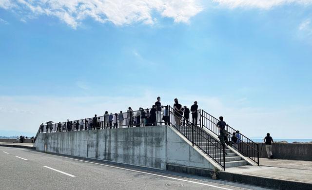 富山県魚津市の蜃気楼を見る展望台