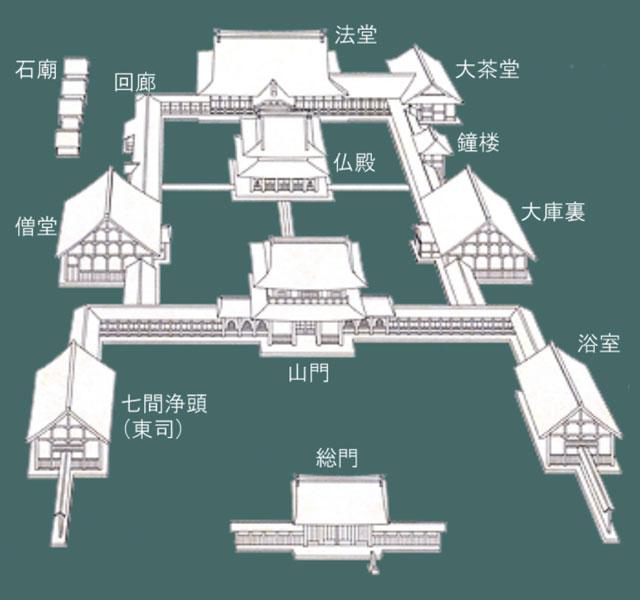 富山県唯一の国宝、高岡市の「瑞龍寺」の境内地図