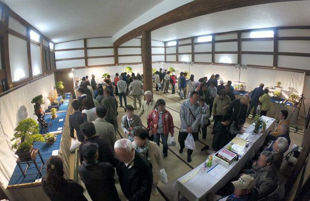 高岡市の国宝「瑞龍寺」のライトアップイベントと同時開催の「盆栽展」2
