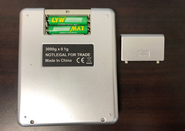 SUPERIOR MINI DIGITAL PLATFORM SCALE(スーパーミニデジタルプラットフォームスケール)の電池を入れる