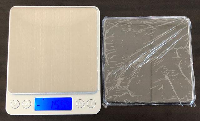 SUPERIOR MINI DIGITAL PLATFORM SCALE(スーパーミニデジタルプラットフォームスケール)の透明トレイの保護フィルム