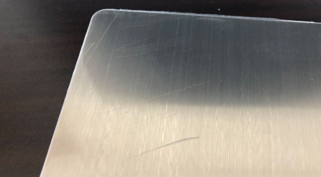 SUPERIOR MINI DIGITAL PLATFORM SCALE(スーパーミニデジタルプラットフォームスケール)の計り台の傷