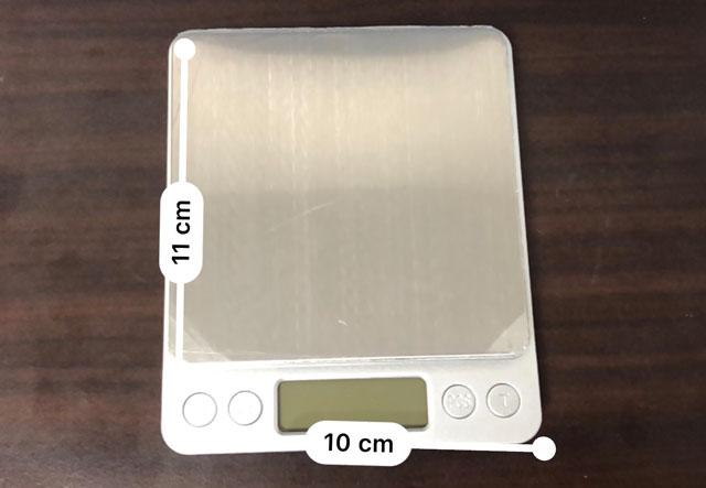 SUPERIOR MINI DIGITAL PLATFORM SCALE(スーパーミニデジタルプラットフォームスケール)の大きさ