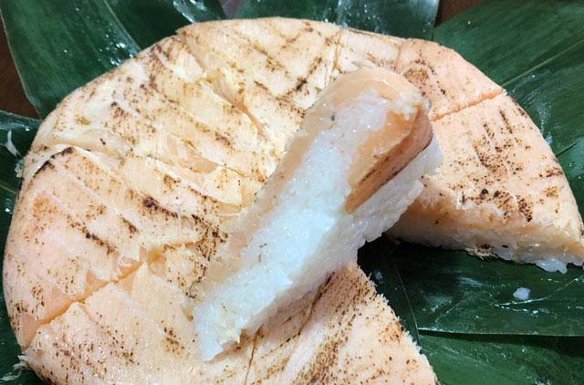 楽天市場、寿司ランキング週間1位の鱒寿司ヒロ助のトロ炙り鱒寿司の鱒の厚み