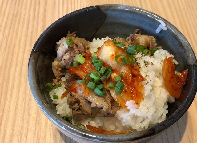 「麺屋 達(めんやたつ) 古沢店」のまかない丼