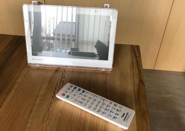 富山県射水市内川の貸切の宿泊施設「水辺の民家ホテル」のポータブルTV