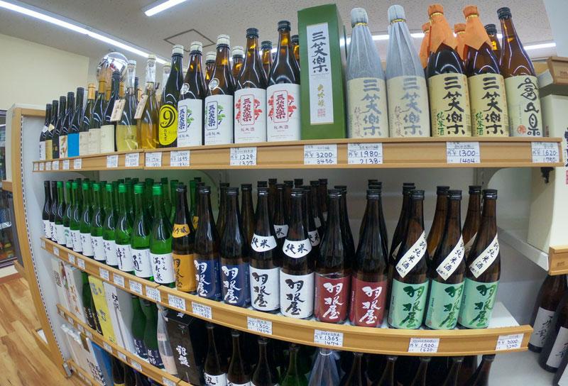 富山駅北の酒屋「リカーポケットみずはた」の日本酒ラインナップ2