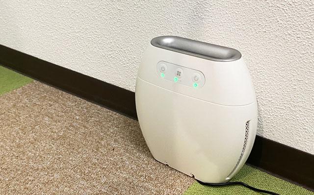富山市二口町の接骨院プロデュースのトレーニングジムの空気清浄機