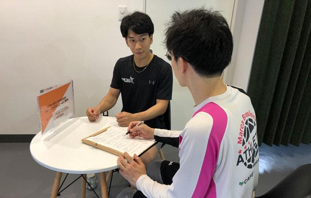富山市二口町の接骨院プロデュースのセミパーソナルジム「ゆめたかトレーニングジム」のカウンセリング