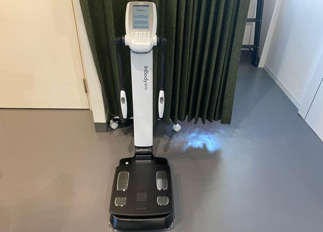 ゆめたかトレーニングジムの体重や筋肉測定器(inbody)