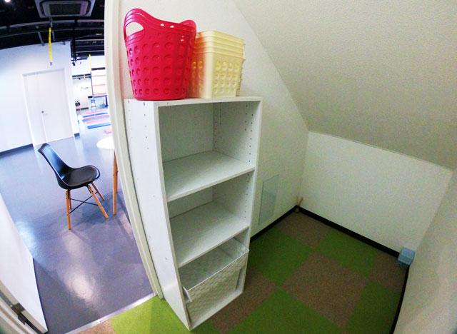 富山市二口町の接骨院プロデュースのセミパーソナルジム「ゆめたかトレーニングジム」の女子更衣室のロッカー