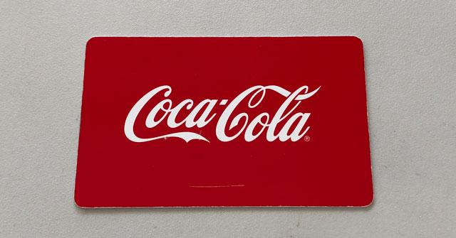 アイスコールド コカコーラの専用カードのオモテ面