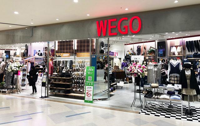 増床リニューアルしたファボーレ富山のWEGO(ウェゴー)