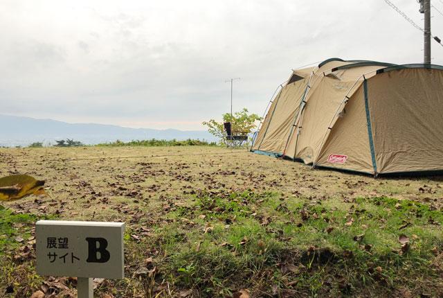 南砺市井波にある「閑乗寺公園キャンプ場」の展望サイトB