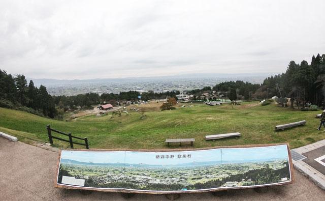 南砺市井波にある「閑乗寺公園キャンプ場」の展望広場からの景色