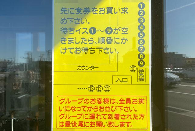 新庄の二郎系ラーメン「麺屋豚道場ぶた壱」の並び方