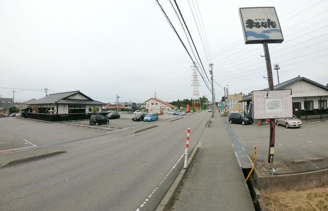 富山市二俣、富山IC近くにある「海鮮屋まるなん」の場所