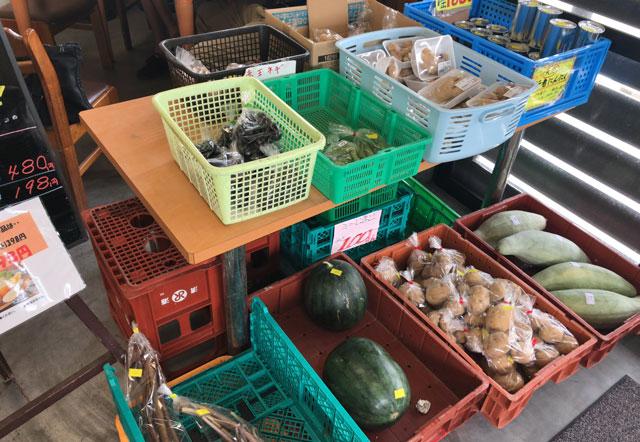 富山市二俣、富山IC近くにある「海鮮屋まるなん」の野菜