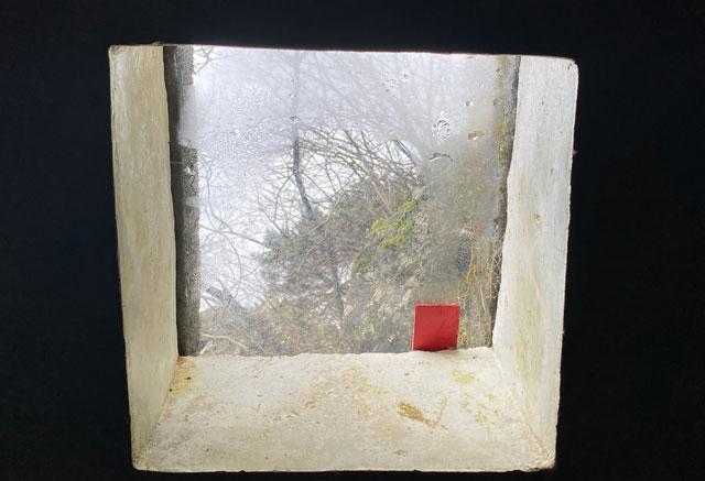 富山県南砺市の秘境温泉「湯谷温泉(ゆだにおんせん)」の着替え場所の天窓