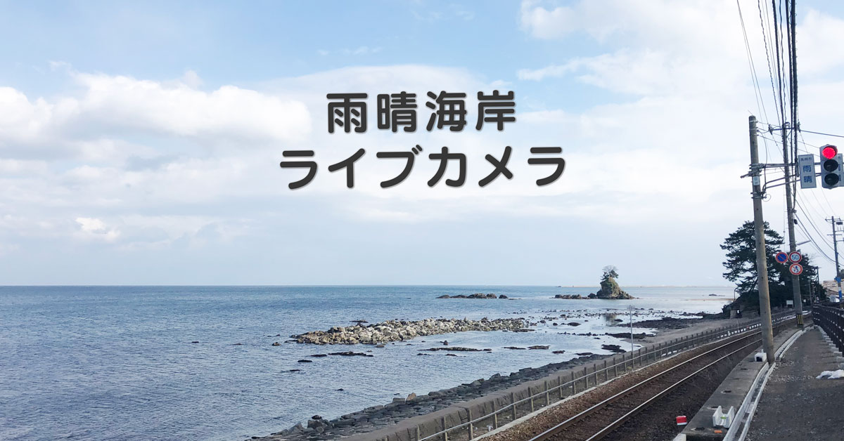 【雨晴海岸ライブカメラの使い方】観光に行く前に天気や景色のチェックができる!