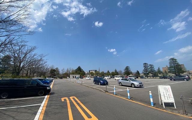 富山さくらの名所70選、富山県富山市五福公園の駐車場
