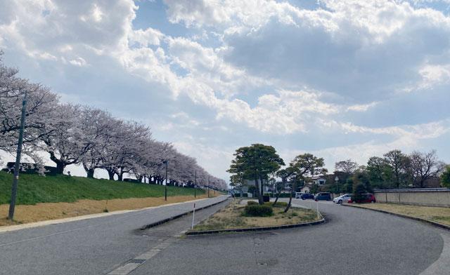 富山市五福の富山県水墨美術館の駐車場2