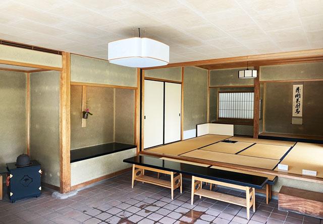 富山市五福の富山県水墨美術館の茶室「墨光庵」
