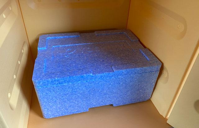 食材宅配のヨシケイの不在時の宅配ボックスの中身