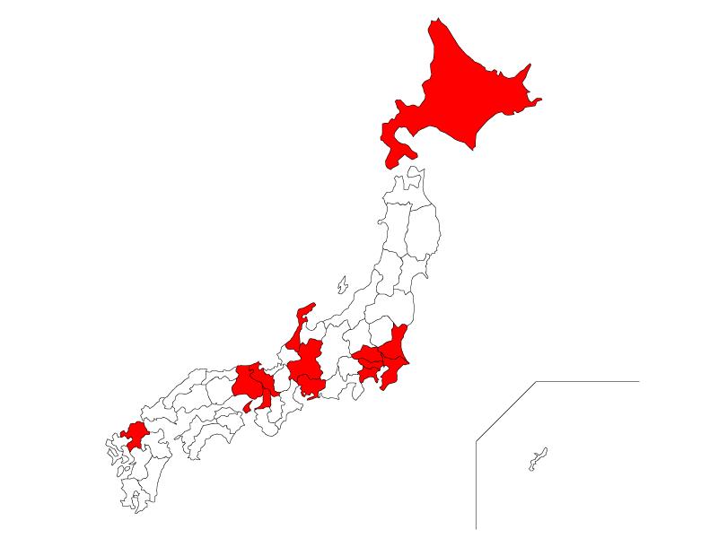新型コロナウイルスの13ヵ所の特定警戒都道府県