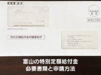 【富山の特別定額給付金】10万円現金給付の申請方法と必要な書類!【郵送申請】